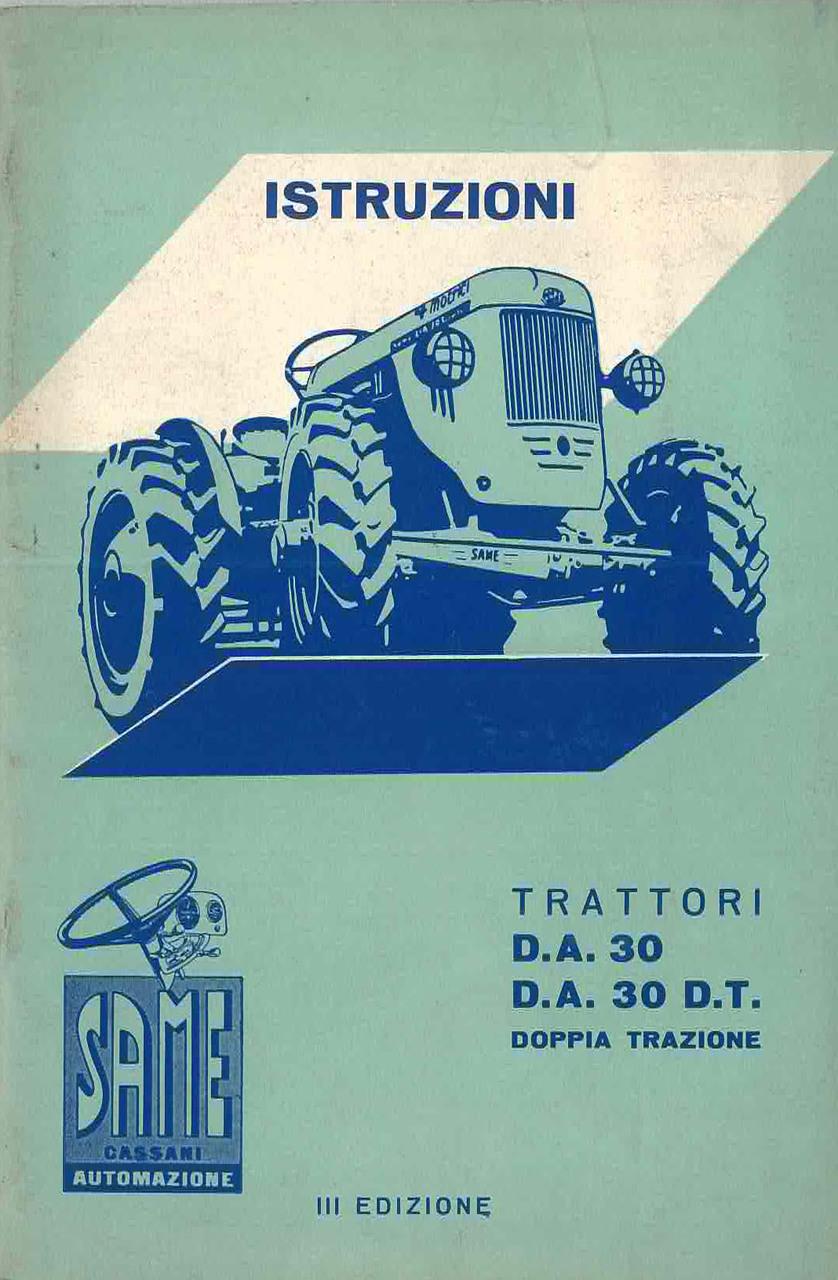 DA 30 - DA 30 DT Libretto Uso & Manutenzione
