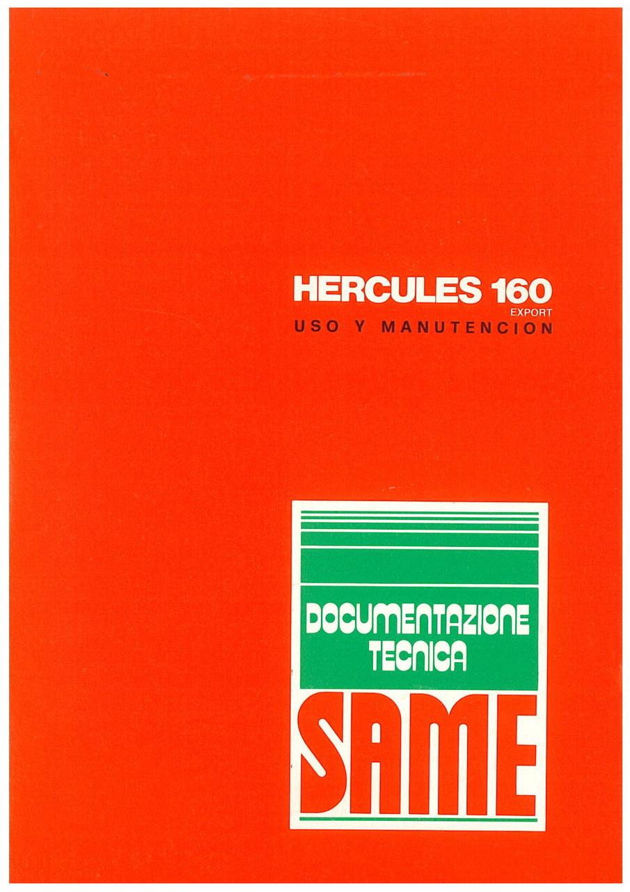 HERCULES 160 EXPORT - Uso y manutencion