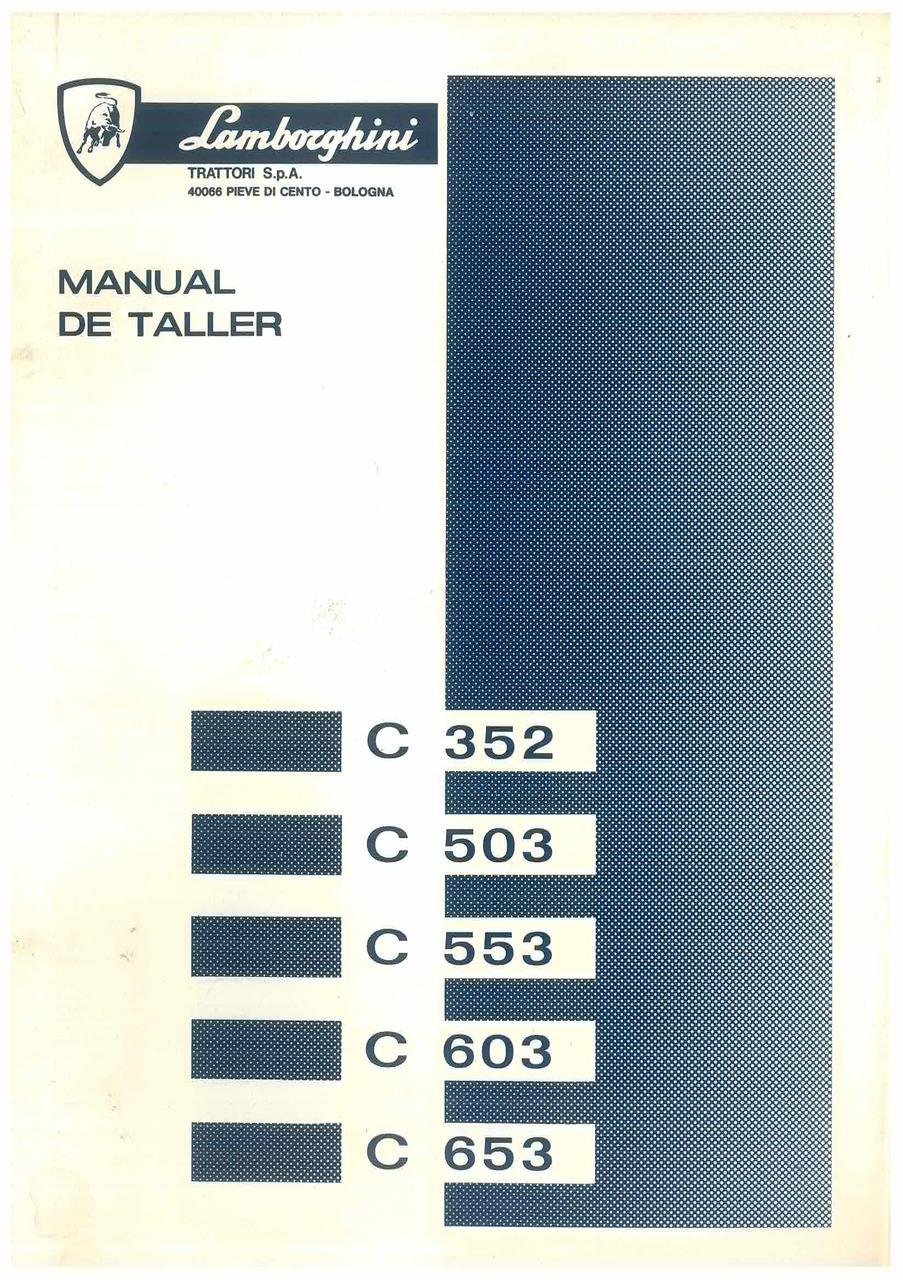 C 352 - C 503 - C 553 - C 603 - C 653 - Manual de Taller