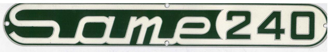 Targhetta metallica SAME 240