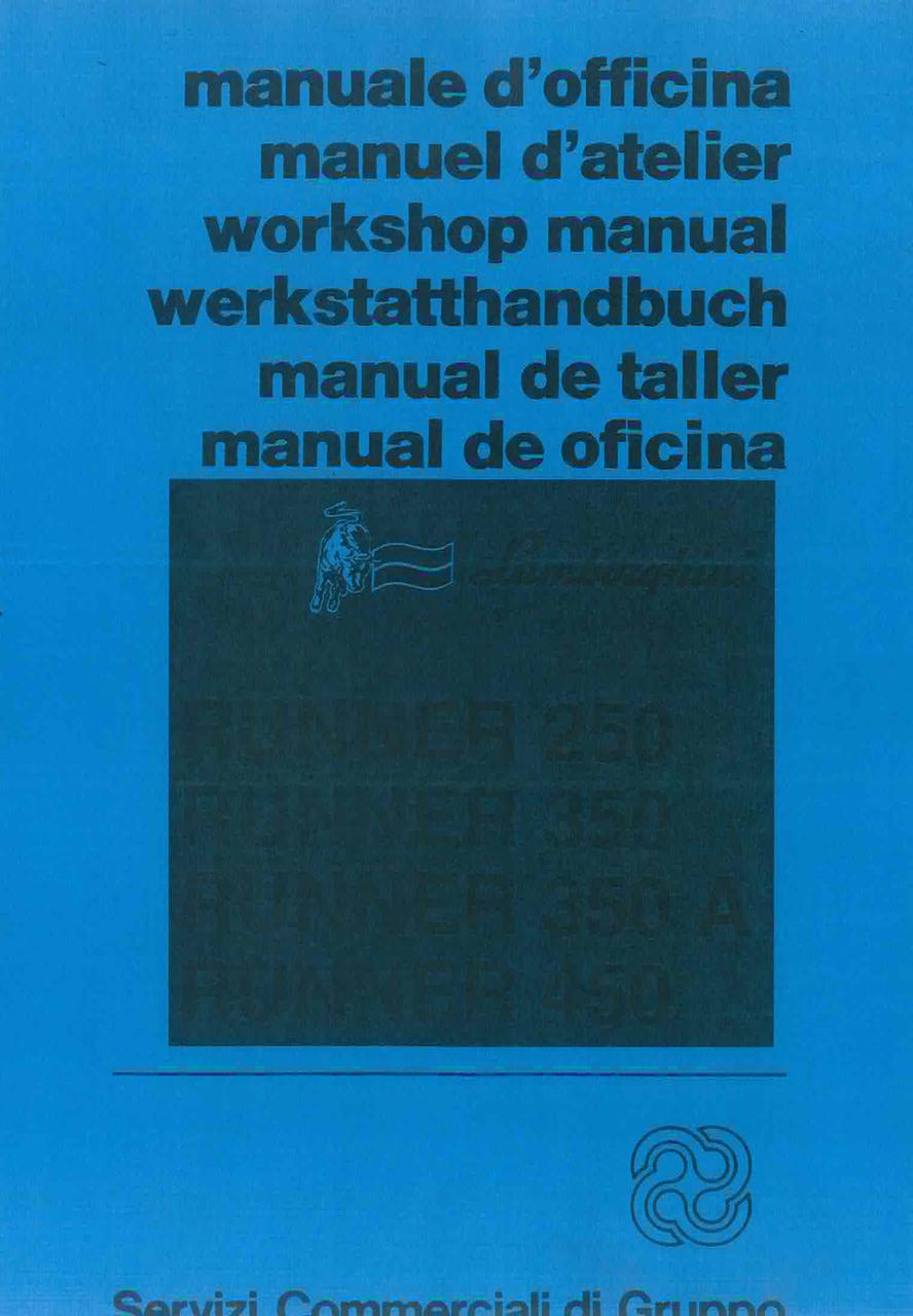 RUNNER 250 - 350 - 350 A - 450 - Werkstatthandbuch