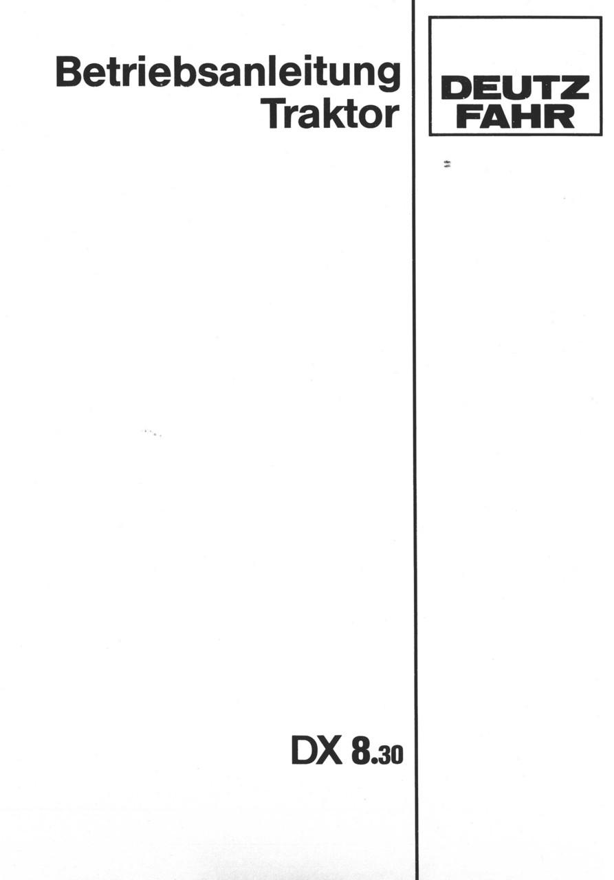 DX 8.30 - Betriebsanleitung