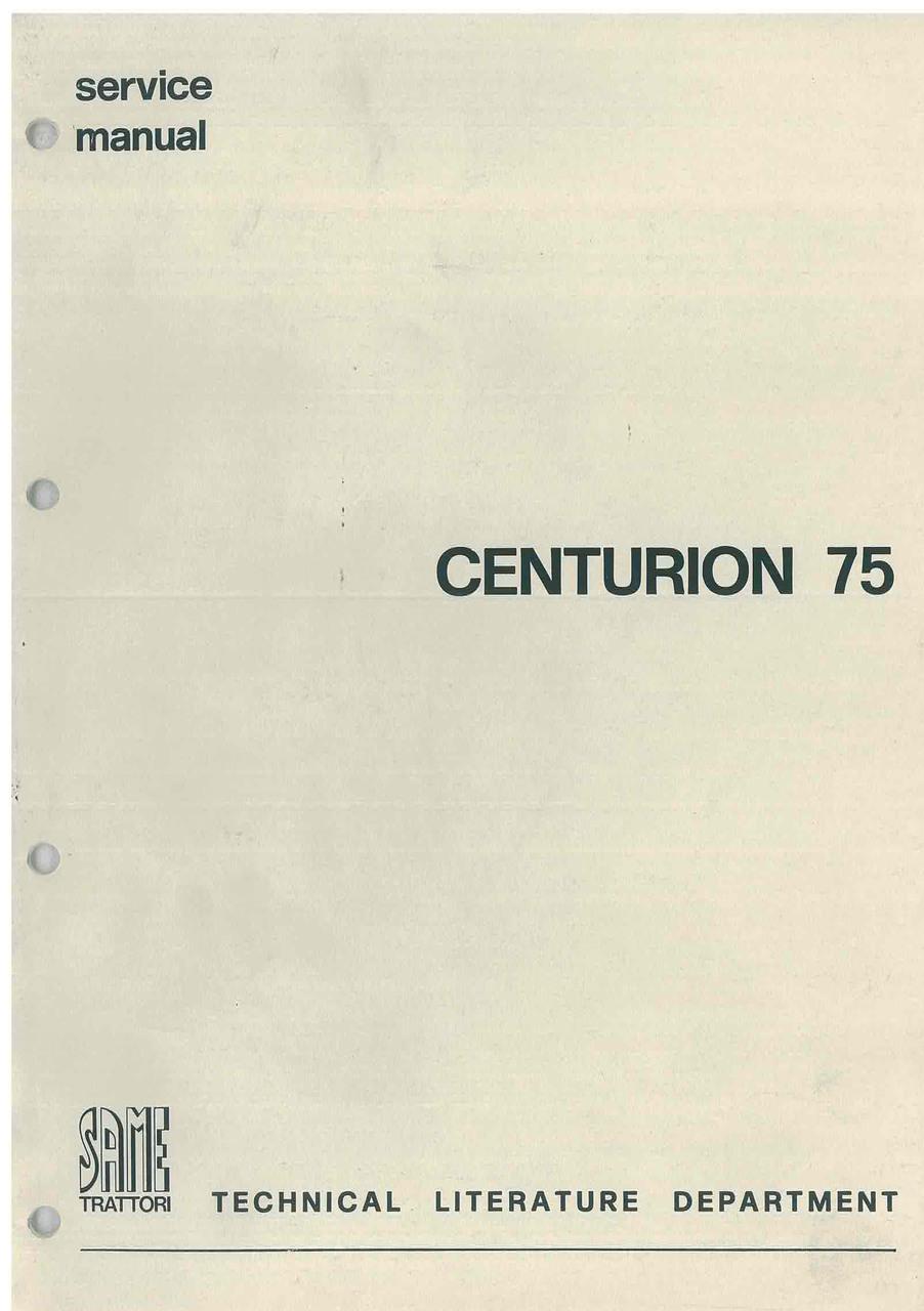 CENTURION 75 - Workshop manual