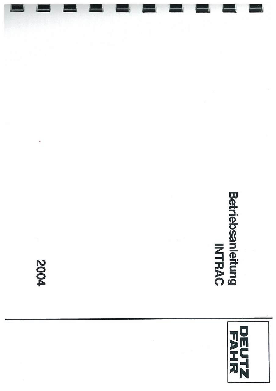 INTRAC 2004 - Bedinungsanleiting
