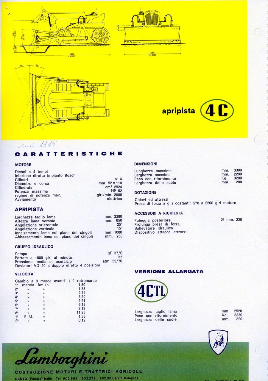 Lamborghini 4 C apripista