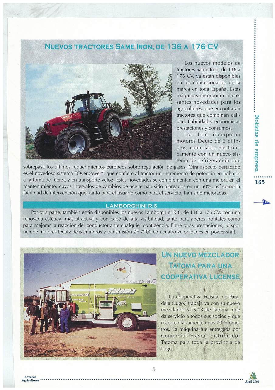 Nuevos Tractores SAME Iron, de 136 a 176 CV
