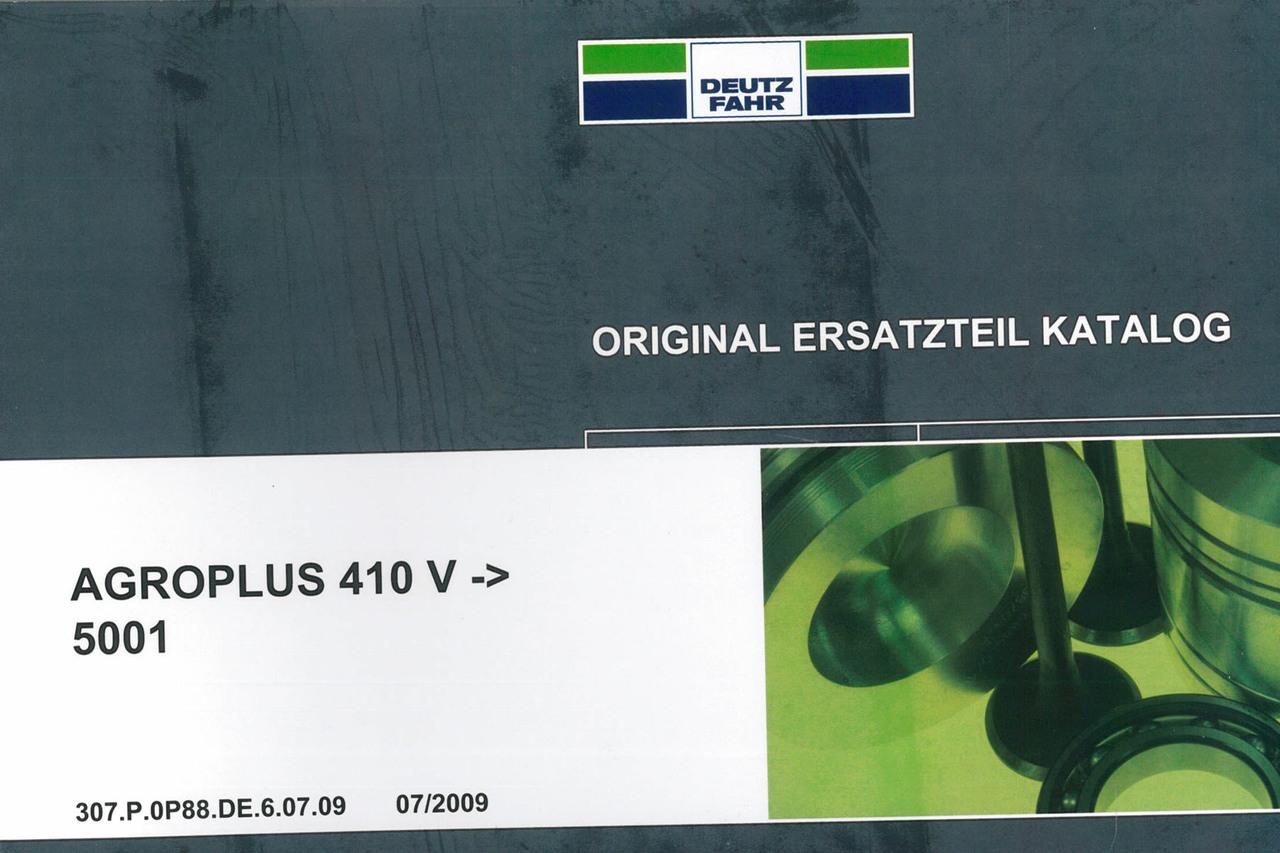 AGROPLUS 410 V ->5001 - Original Ersatzteil Katalog