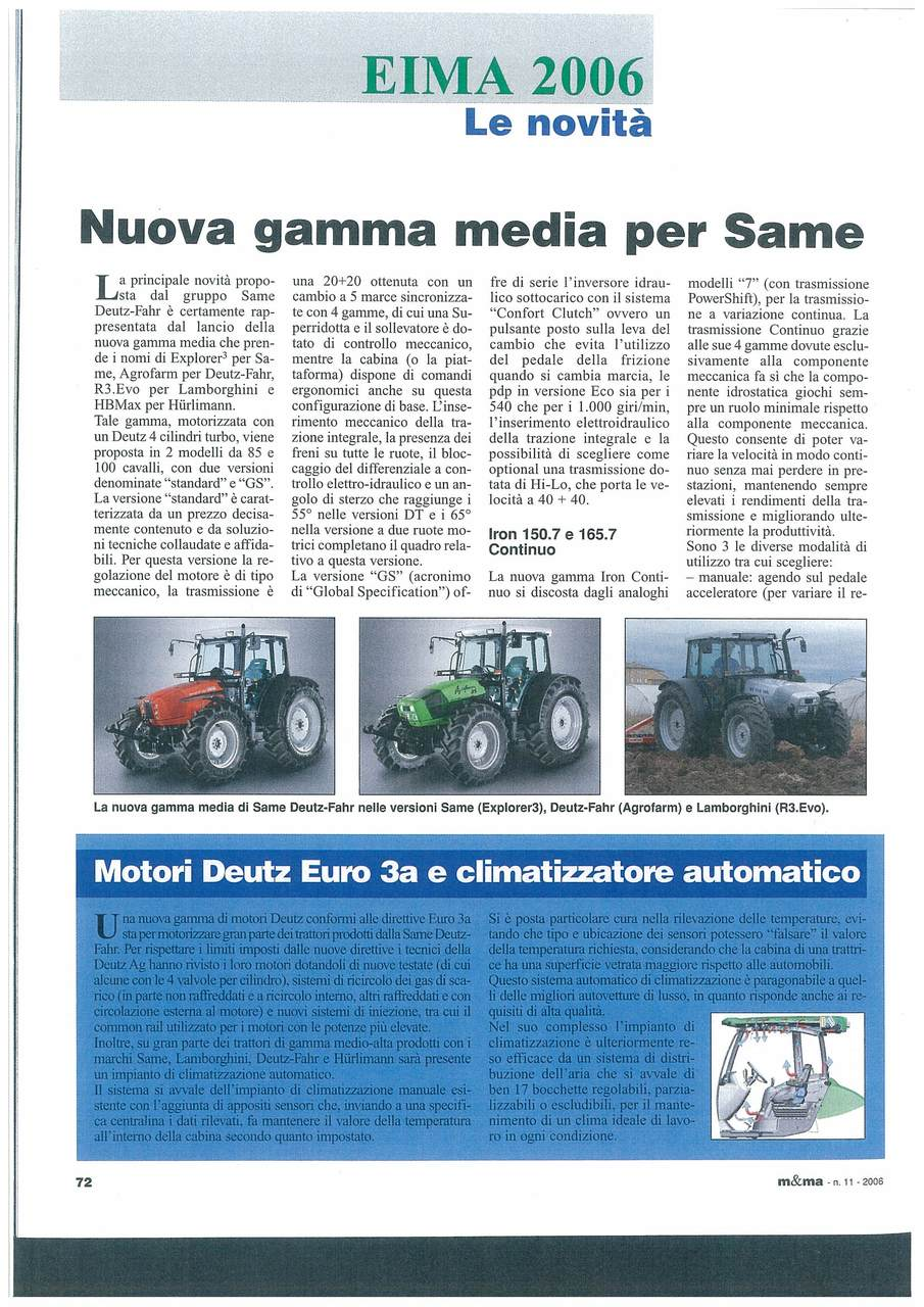Nuova gamma media per SAME