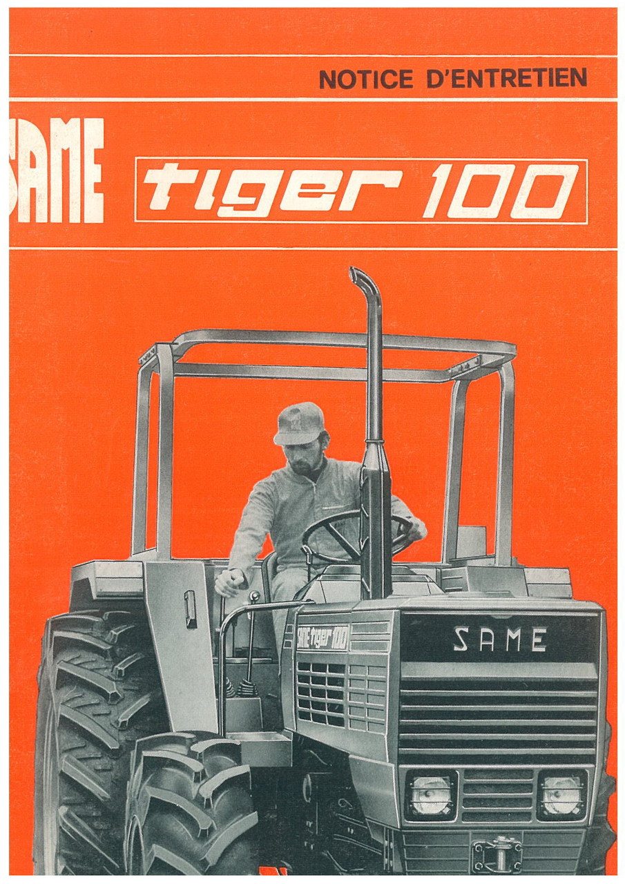 TIGER 100 - Utilisation et entretien