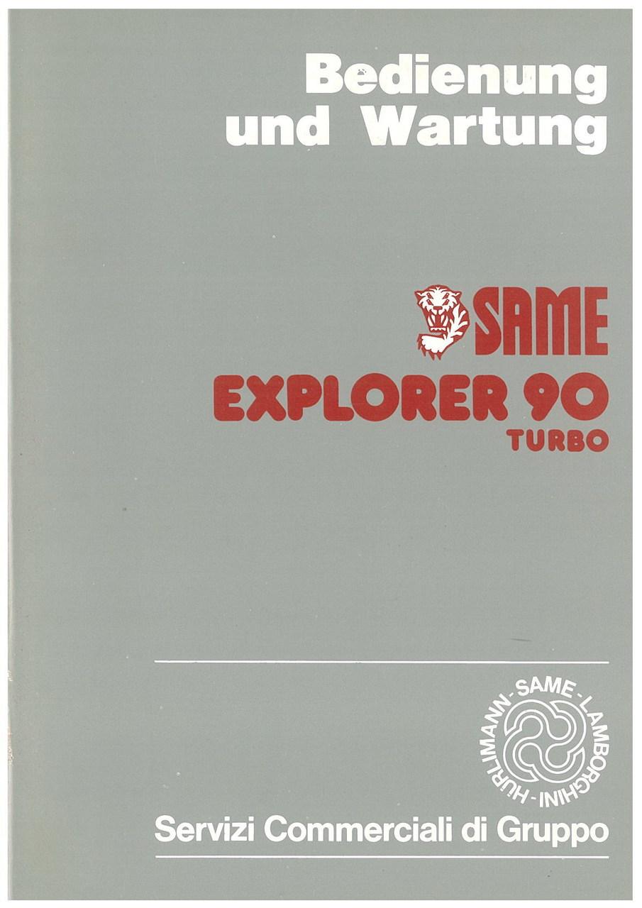 EXPLORER 90 TURBO - Bedienung und wartung