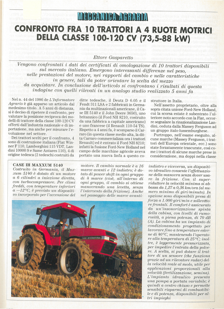 Meccanica agraria