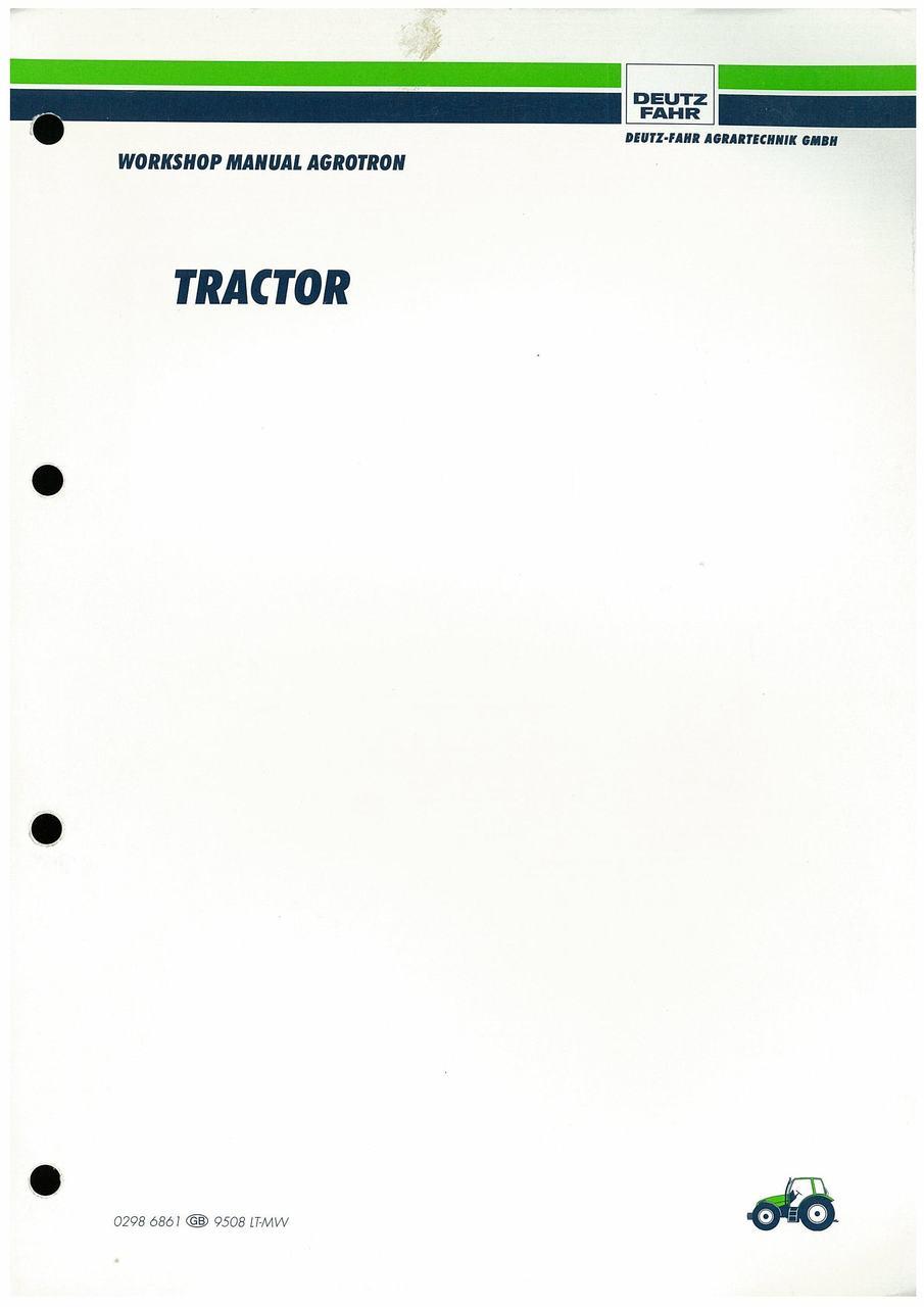 AGROTRON 4.70-6.45 - Workshop Manual