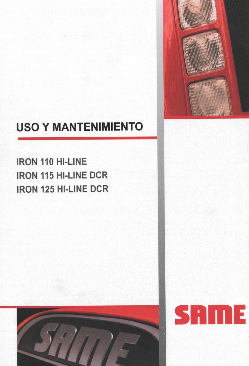 IRON 110 HI-LINE - IRON 115 HI-LINE DCR - IRON 125 HI-LIN DCR - Uso y mantenimiento