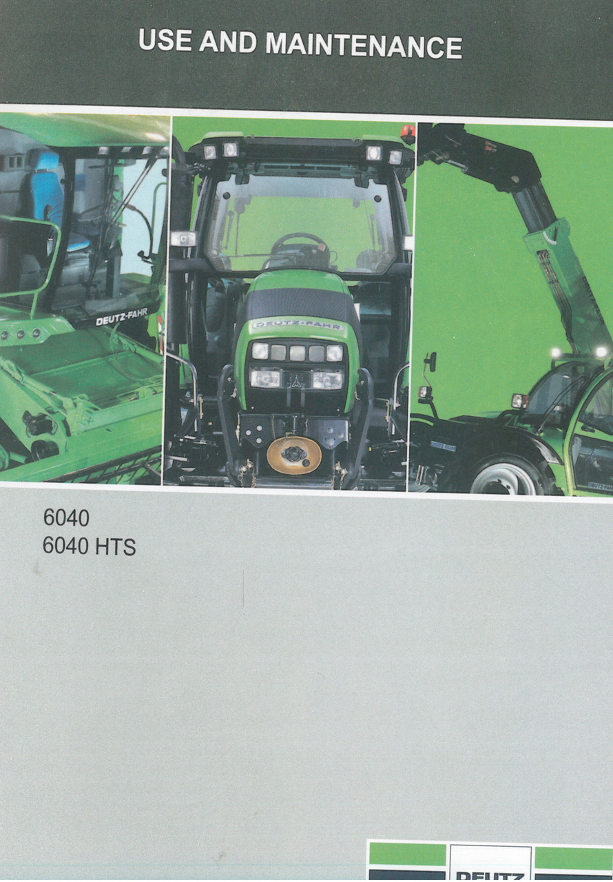 6040 - 6040 HTS - Use and maintenance