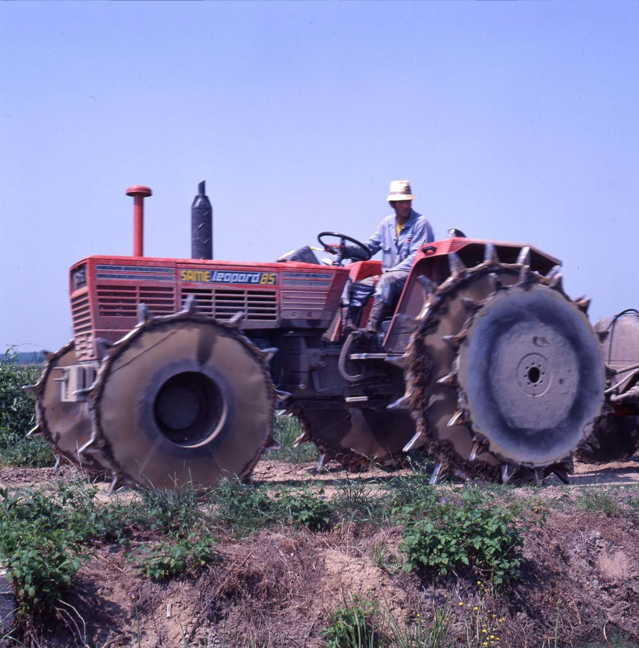 [SAME] trattore Leopard 85 al lavoro in risaia