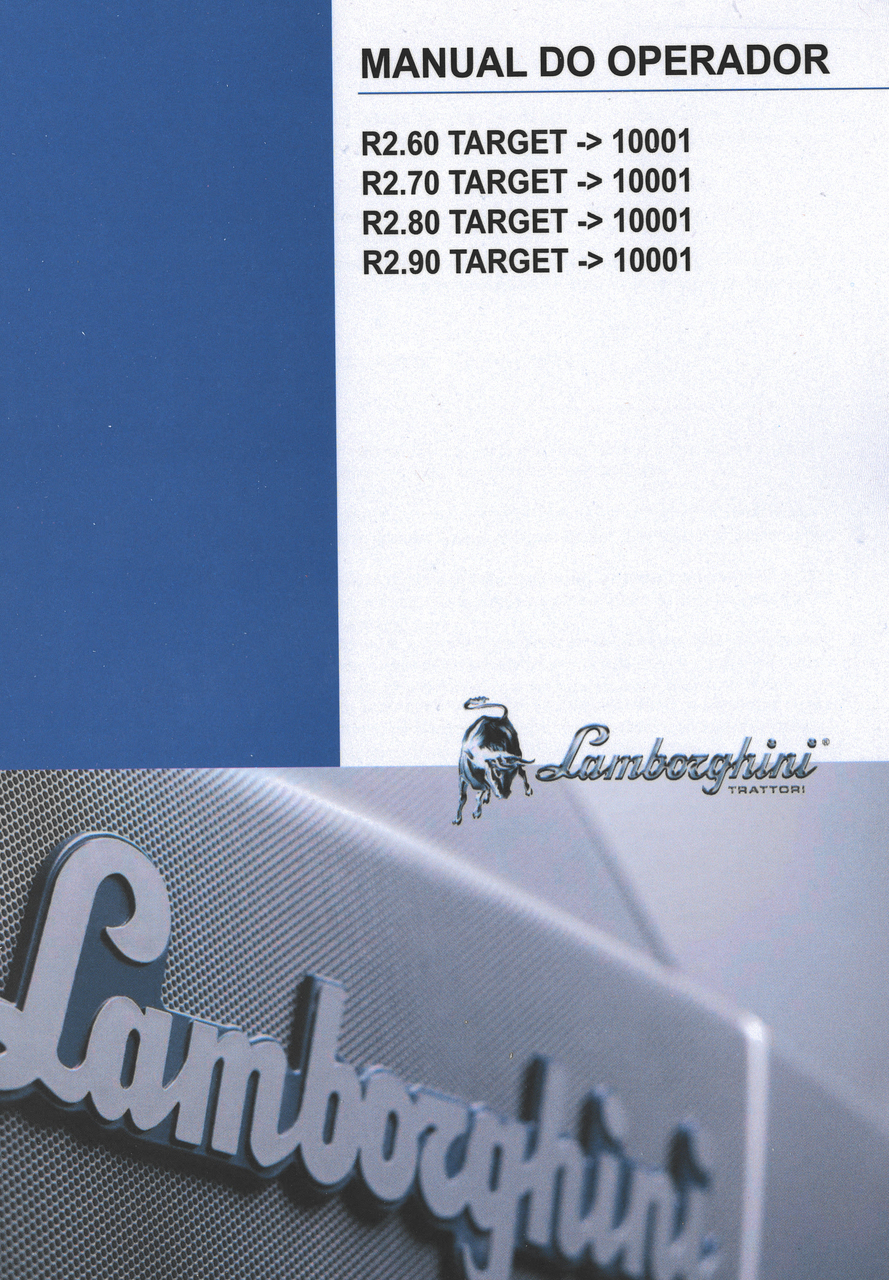 R2.60 TARGET ->10001 - R2.70 TARGET ->10001 - R2.80 TARGET ->10001 - R2.90 TARGET ->10001 - Manual do operador