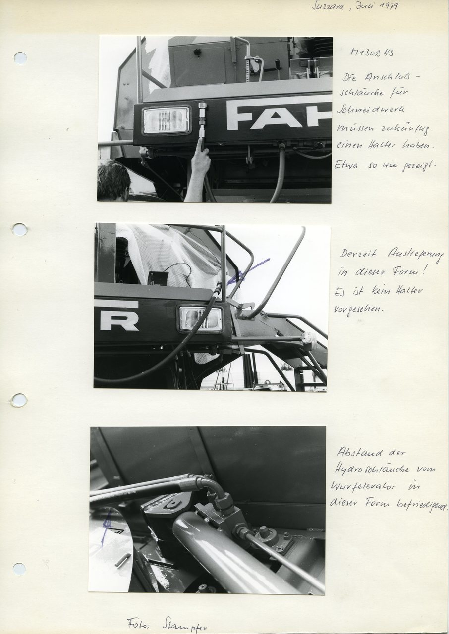 """[Fahr] particolari M 1302 HS, """"Suzzara, Juli 1979"""""""