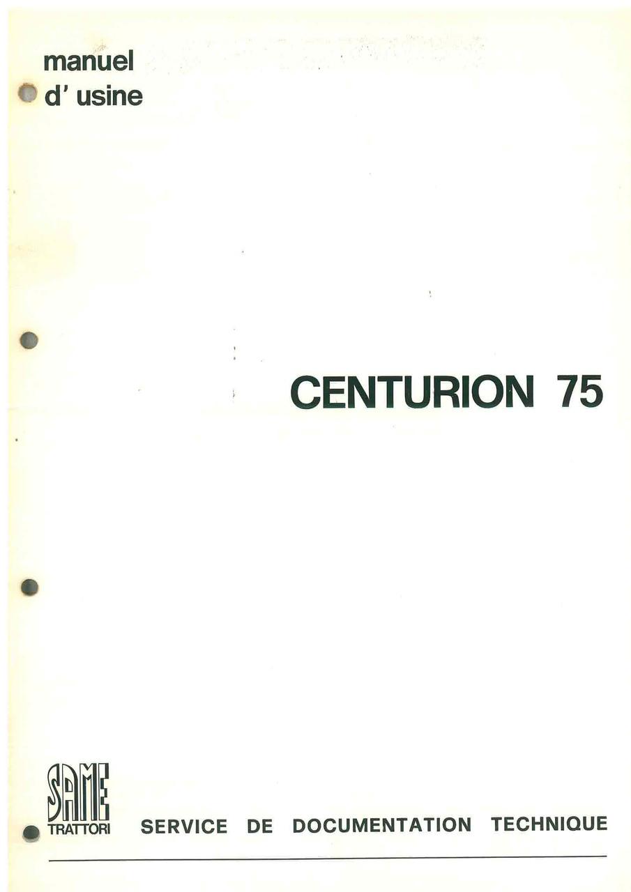 CENTURION 75 - Manuel d'atelier