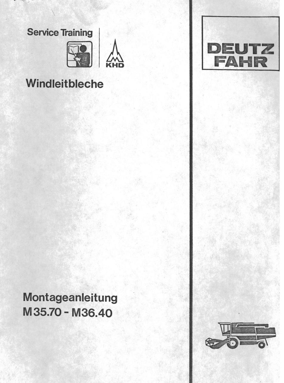 WINDLEITBLECHE M 35.70 - M 36.40 - Montageanleitung