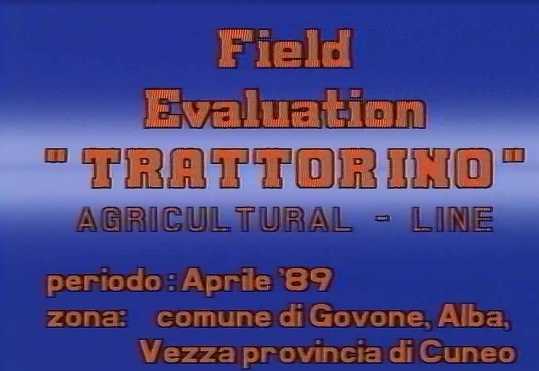 "Field Evaluation ""Trattorino"" SAME e Lamborghini"