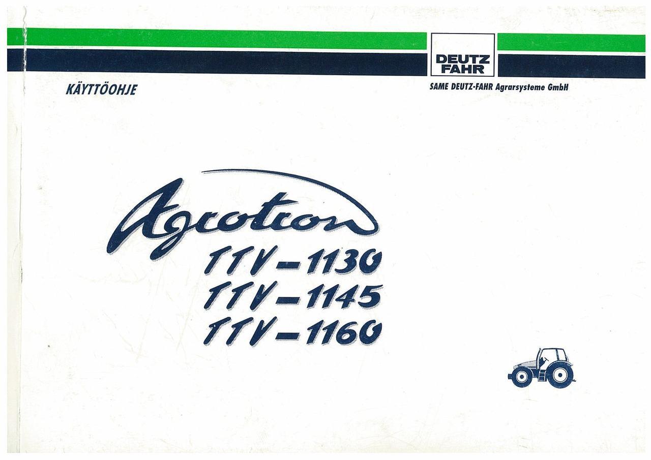 AGROTRON TTV 1130-1145-1160 - Käyttöohje