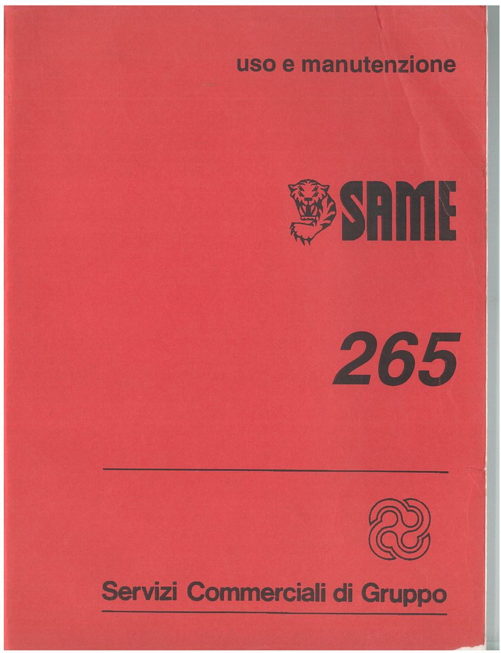 SAME 265 - Libretto uso & manutenzione