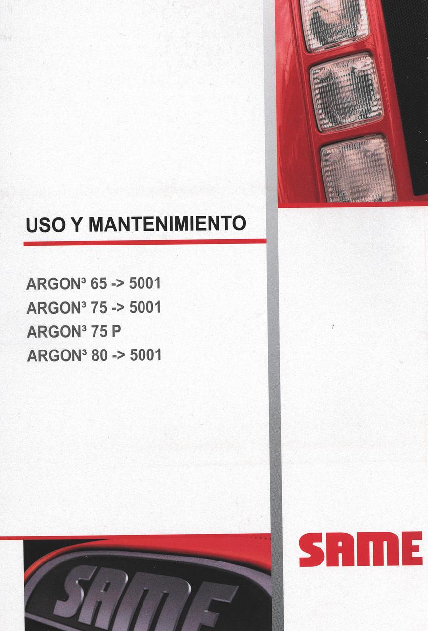 ARGON³ 65 ->5001 - ARGON³ 75 ->5001 - ARGON³ 75 P - ARGON³ 80 ->5001 - Uso y mantenimiento