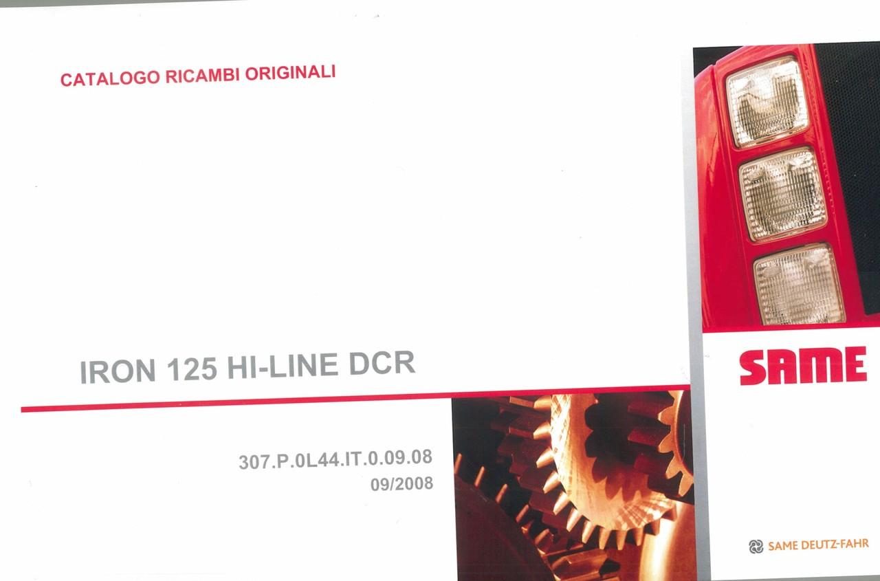IRON 125 HI-LINE DCR - Catalogo ricambi originali