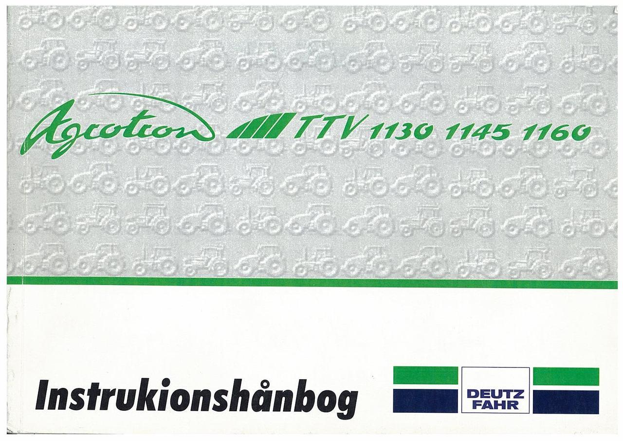 AGROTRON TTV 1130-1145-1160 - Bruger-og vedligeholdelsesvejledning