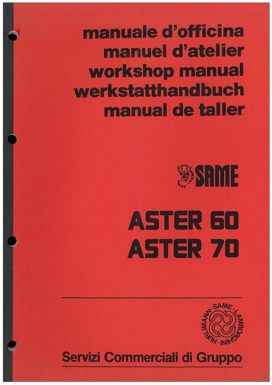 ASTER 60 - 70 - Manuale d'officina