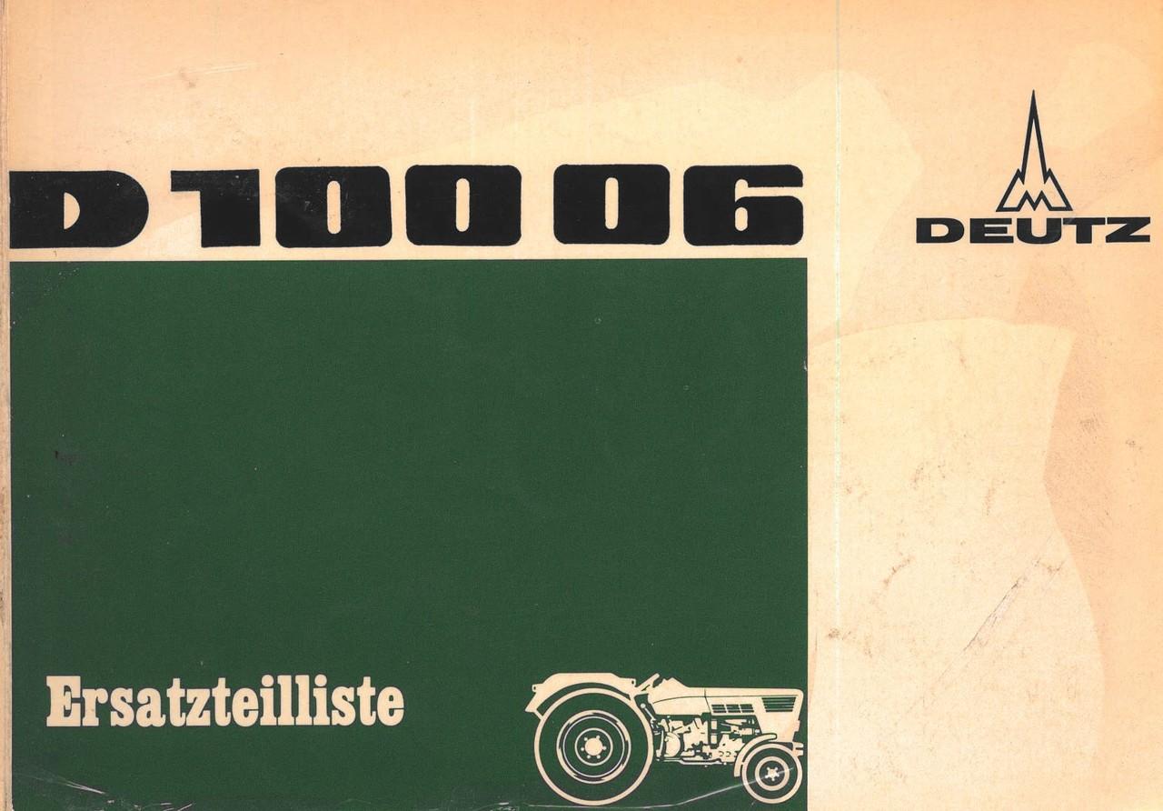 D 10006 - Ersatzteilliste