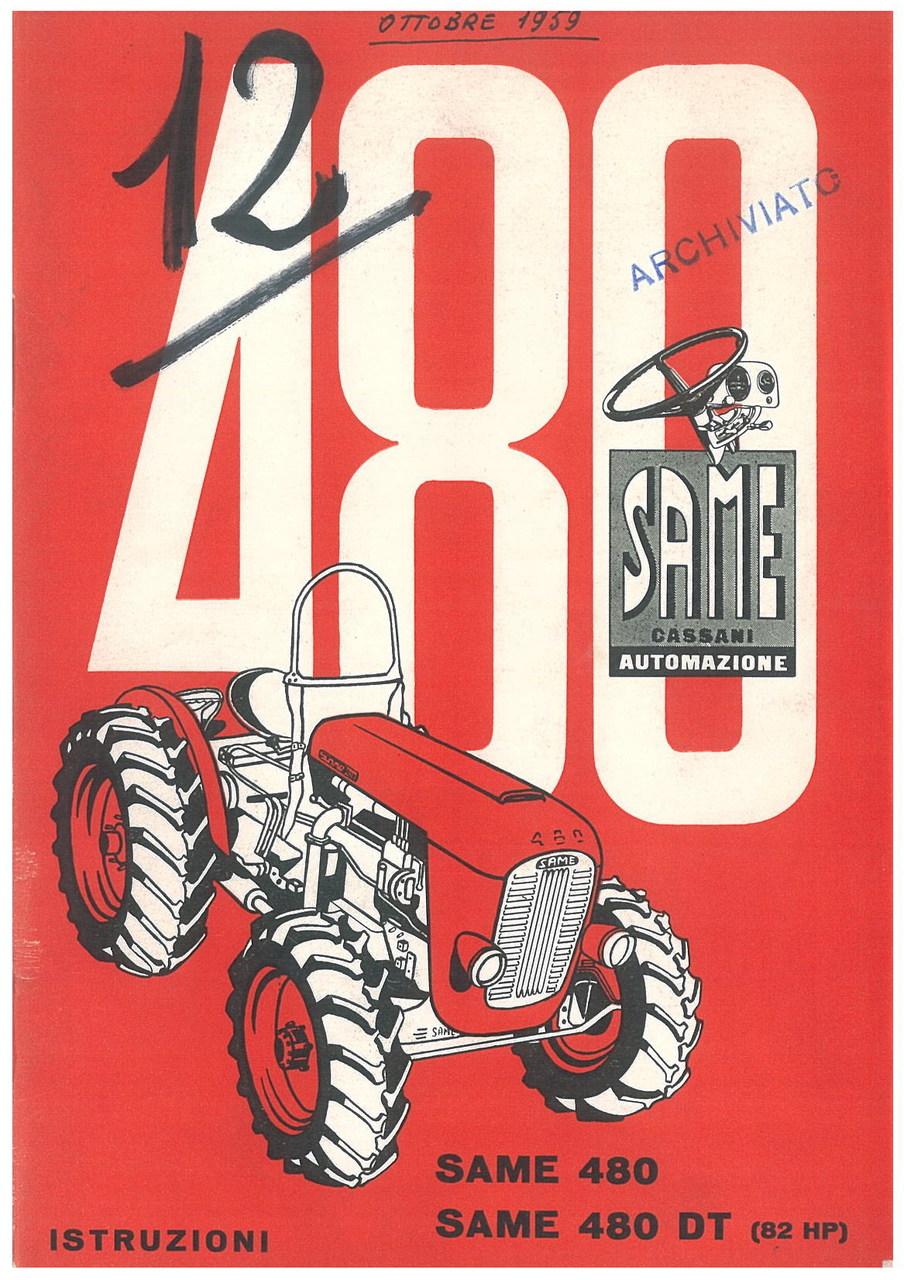 SAME 480 - SAME 480 DT - Libretto uso & manutenzione
