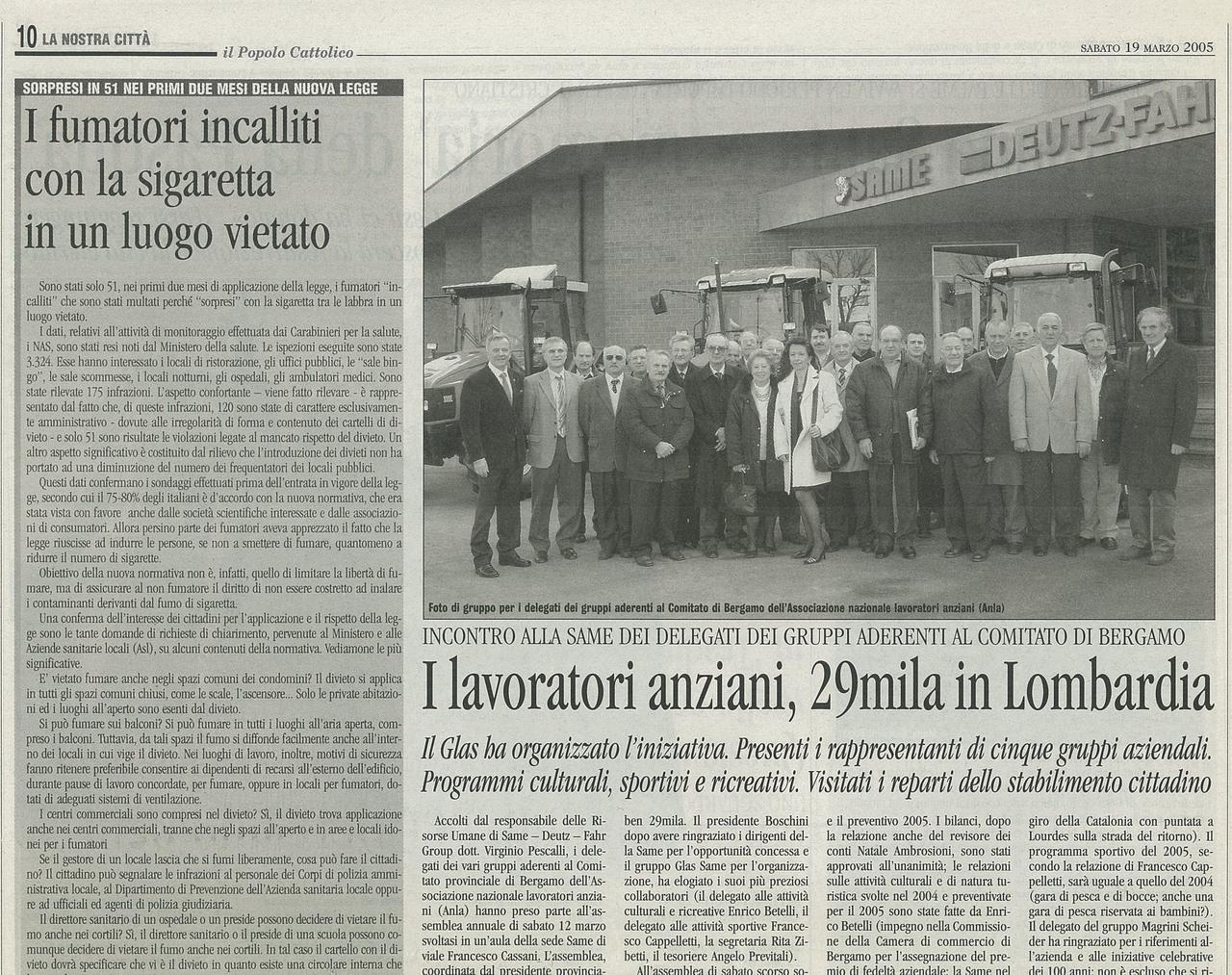 I lavoratori anziani 29 mila in Lombardia