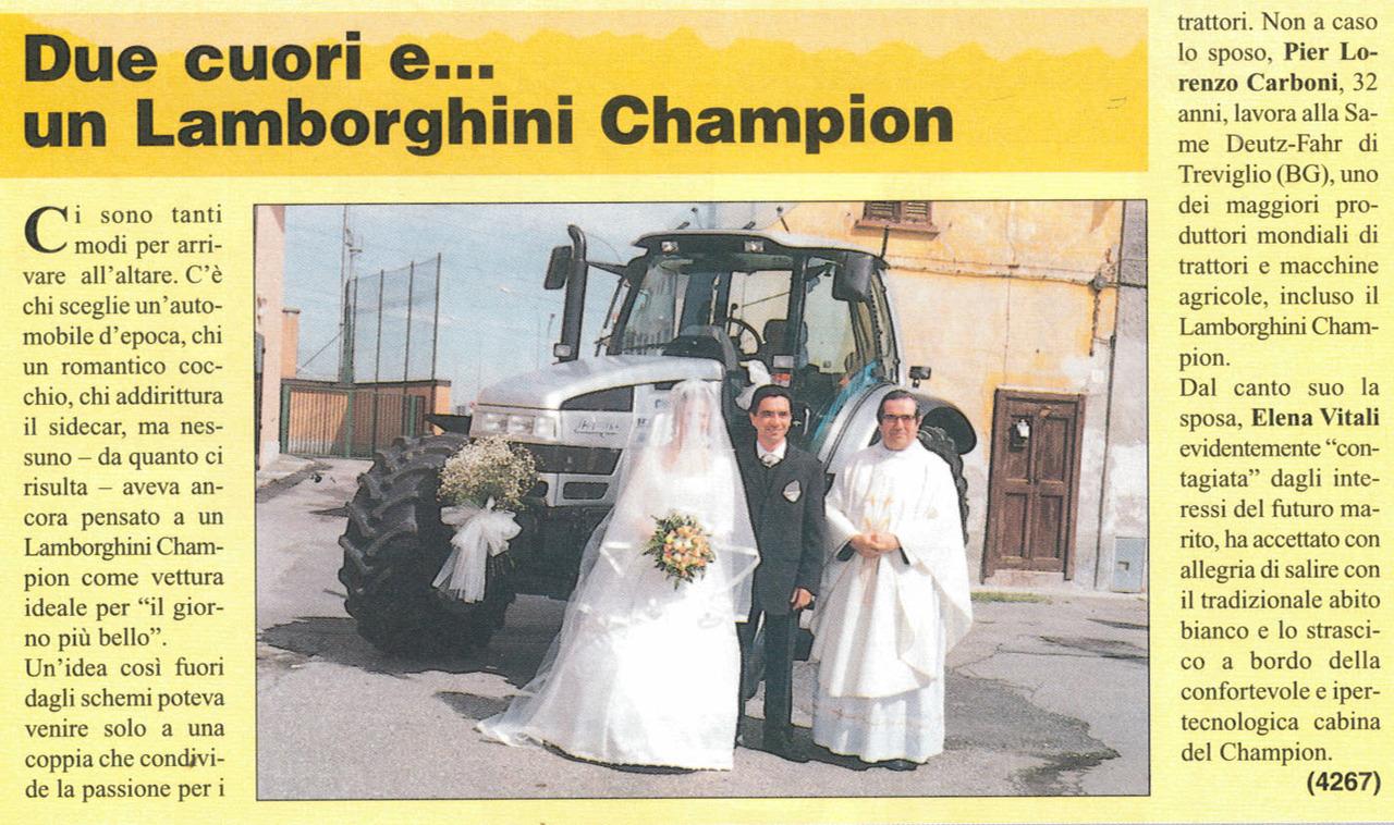 Due cuori e... un Lamborghini Champion