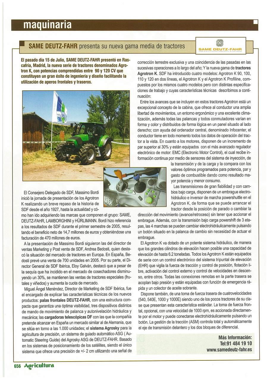 SAME Deutz-Fahr presenta su nueva gama media de tractores