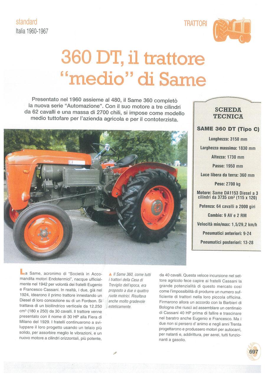 """360 DT, il trattore """"medio"""" di Same"""