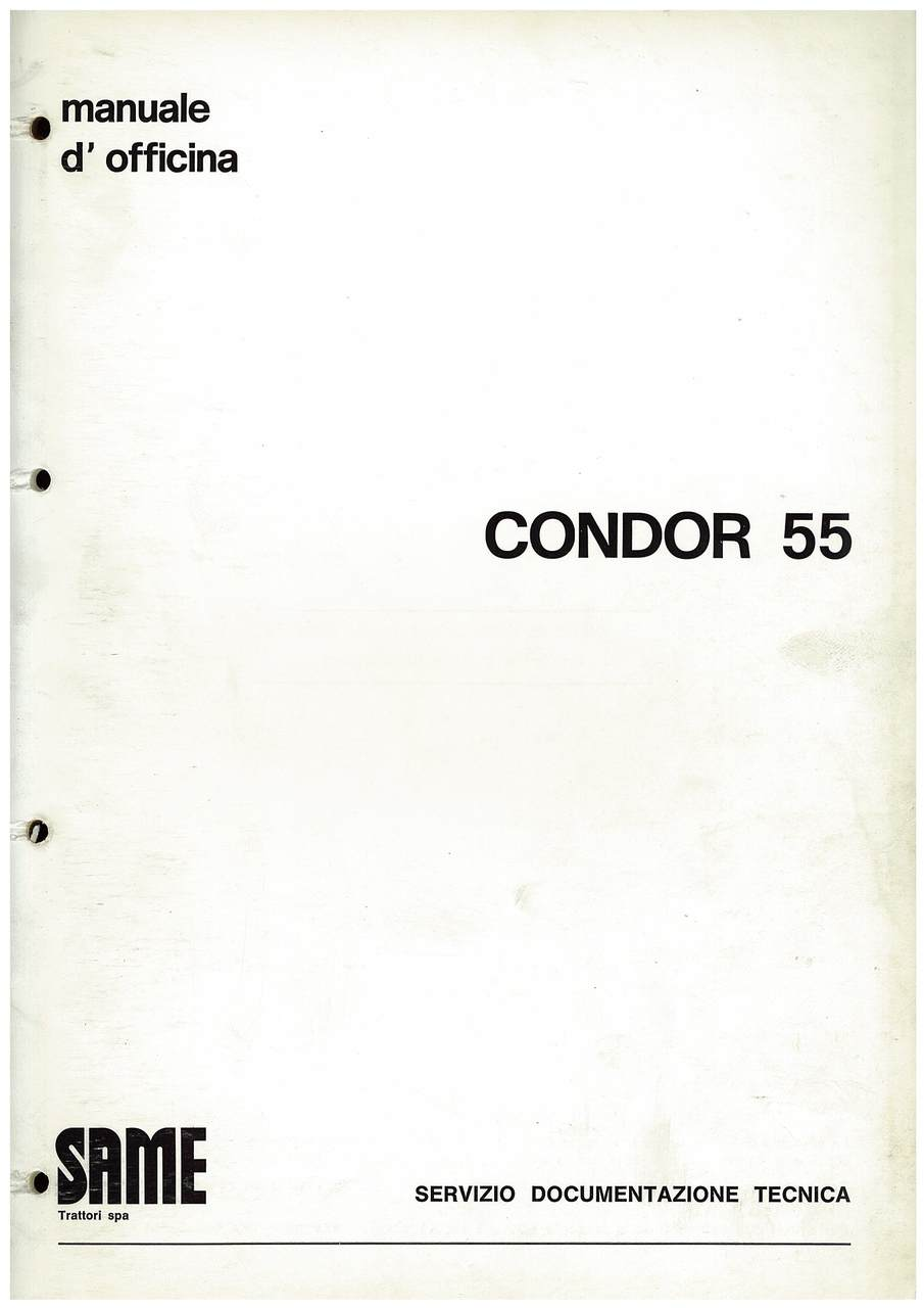 CONDOR 55 - Manuale d'officina