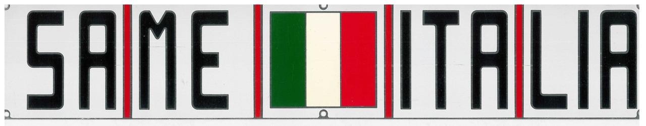 Targhetta metallica SAME ITALIA