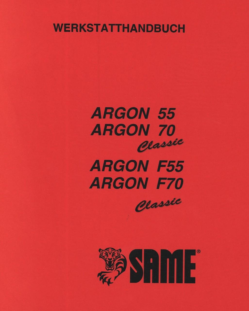 ARGON 55 CLASSIC - ARGON 70 CLASSIC - ARGON F 55 CLASSIC - ARGON F 70 CLASSIC - Werkstatthandbuch