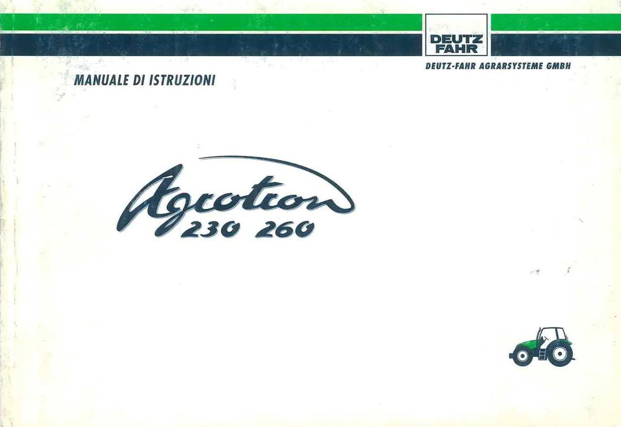 AGROTRON 230-260 - Libretto Uso & Manutenzione