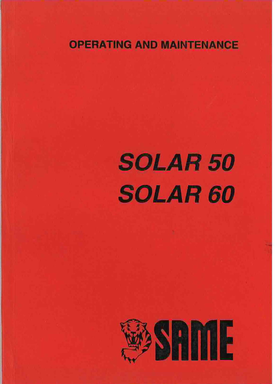 SOLAR 50 - 60 - Operationg and maintenance