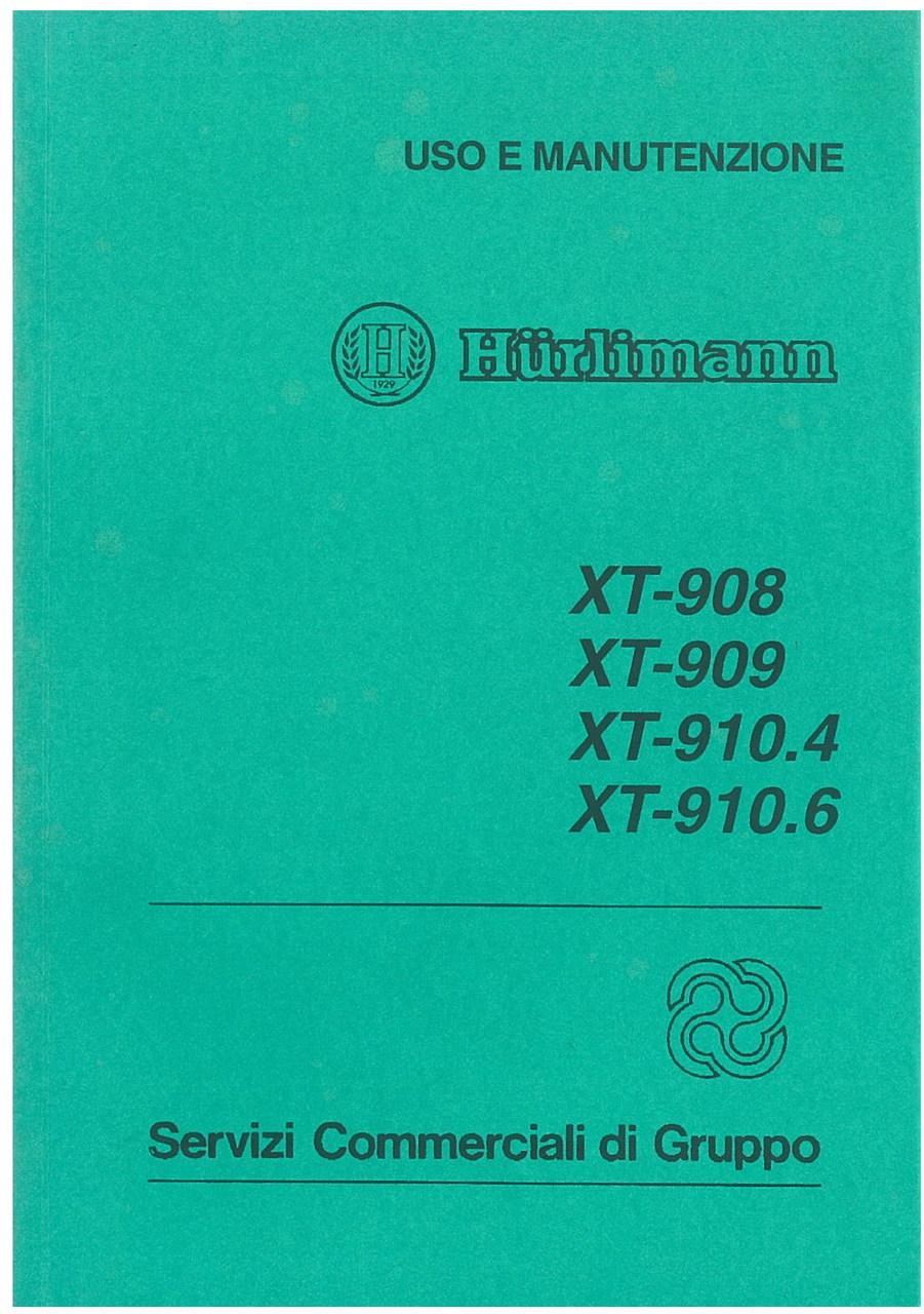 XT 908 / XT 909 / XT 910.4 / XT 910.6 - Libretto uso & manutenzione