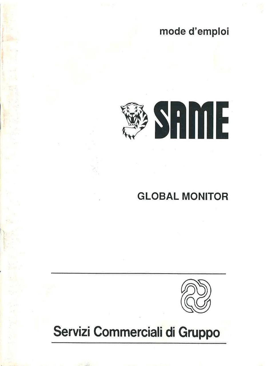 GLOBAL MONITOR - Utilisation et entretien