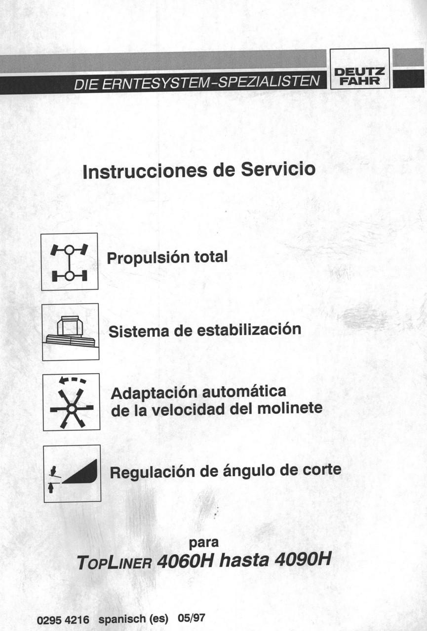 TOPLINER 4060 H hasta 4090 H - Instrucciones de servicio