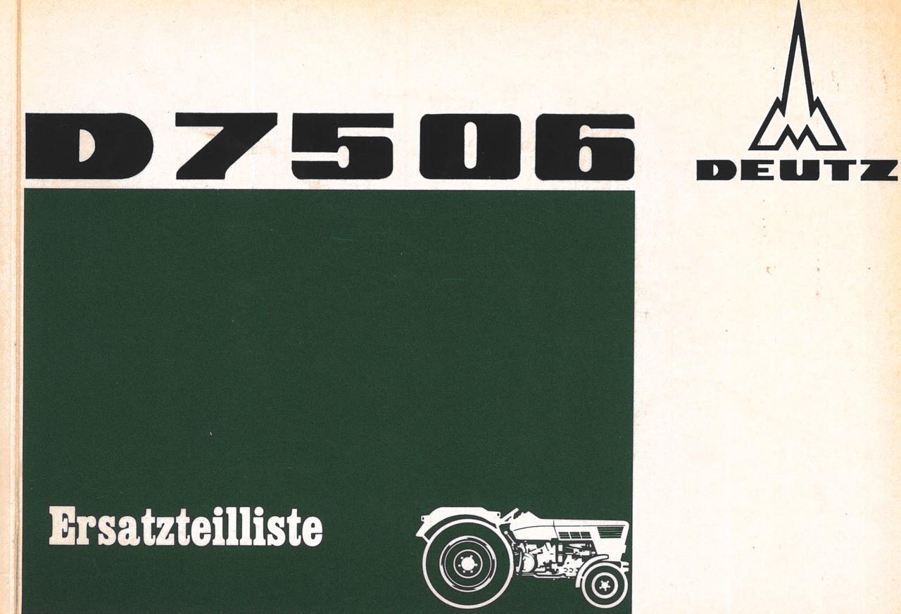 D 7506 - Ersatzteilliste