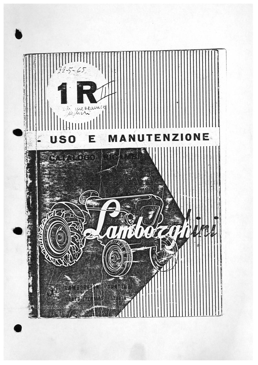 1 R - Libretto Uso & Manutenzione
