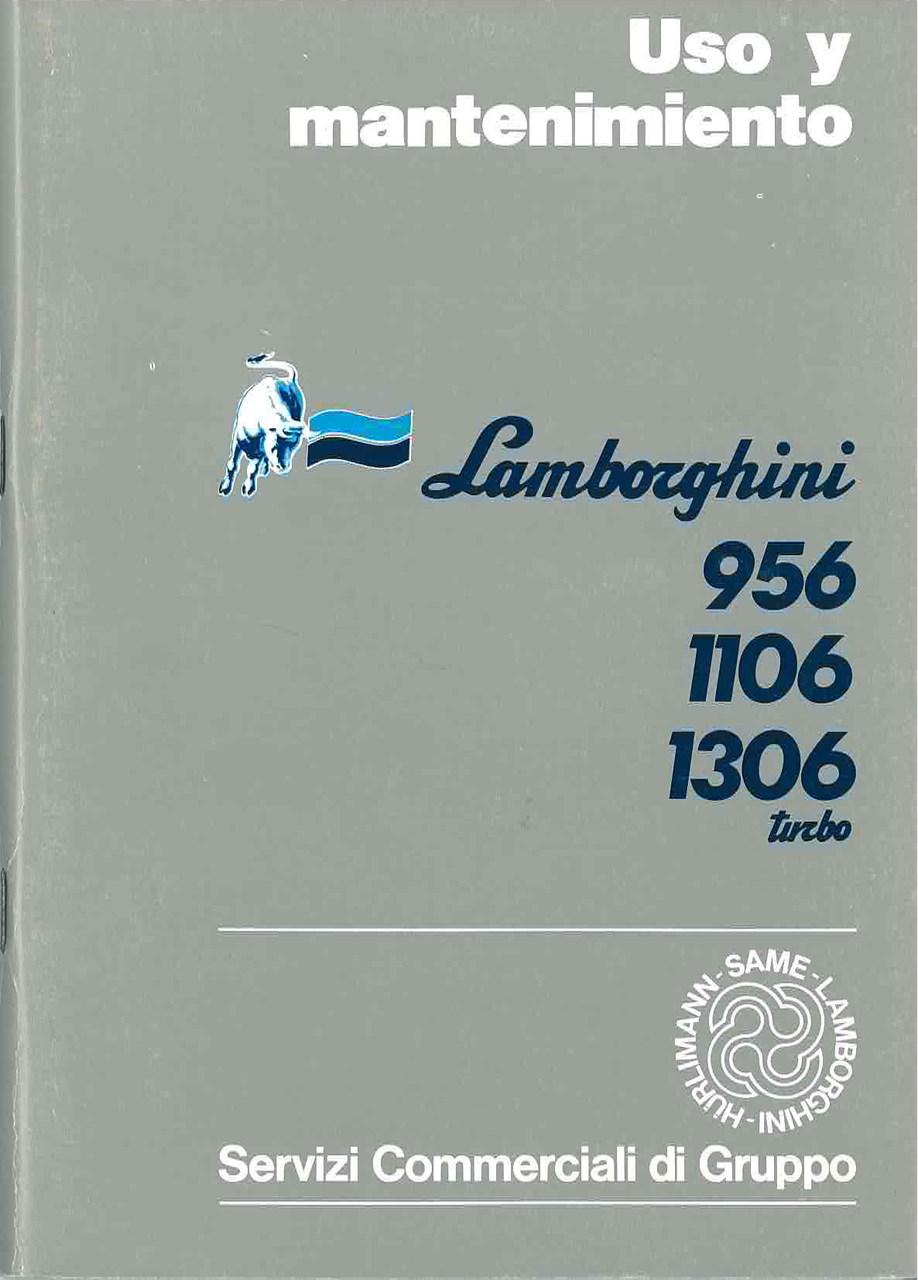 956 - 1106 - 1306 TURBO - Uso y Manutencion