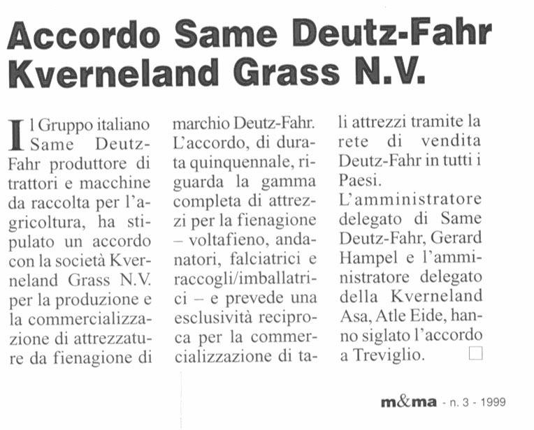 Accordo Same Deutz-Fahr - Kverneland Grass N.V.