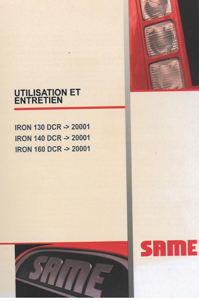 IRON 130 DCR ->20001 - IRON 140 DCR ->20001 - IRON 160 DCR ->20001 - Utilisation et entretien