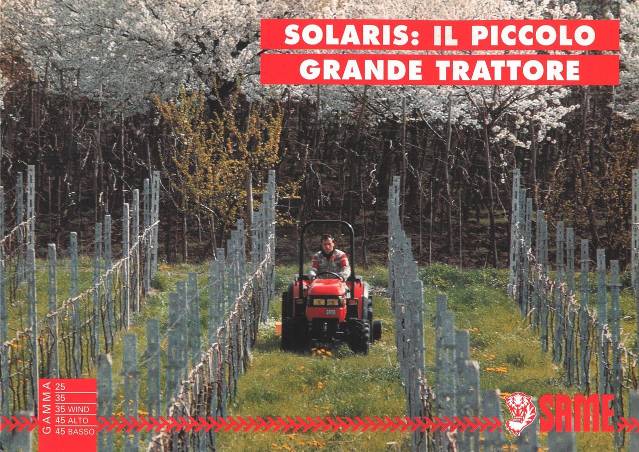 SOLARIS: IL PICCOLO GRANDE TRATTORE